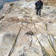 竖井裂石机施工案例图片