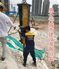 挖機式劈石機廠家圖片