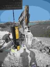 博爾塔拉州鉤機鉤不動石頭開裂圖片
