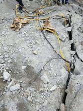 鶴壁基坑移動靈活劈石機日產量圖片