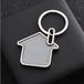 找钥匙扣定制/烤漆钥匙环挂件批发/订做个性小木屋钥匙扣
