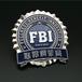 找胸徽定制厂/金属美国联邦调查局FBI徽章/金属徽章制作