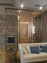 厦门优质装饰不锈钢屏风拉丝电镀黑钛不锈钢屏风铝雕屏风图片