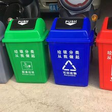万州区环保带轮子垃圾桶图片