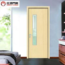 厂家定制学校门复合实木生态门HPL防火面板门时尚太空铝锁门