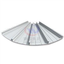 YX65-430直立單鎖邊屋面系統0.9厚鋁鎂錳正反彎弧板、扇形板圖片