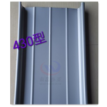 0.8mm扇形彎弧合金板白銀灰氟碳涂層鋁鎂錳板圖片