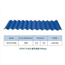 鋼結構建筑金屬屋面墻面板430/470型合金屋面板836型鋁鎂錳波浪板圖片