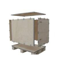 东城专业定做钢带木箱加工价格林达森包装材料钢带木箱图片