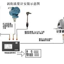智能抗震涡街流量计,测量蒸汽流量计,数显式涡街流量计