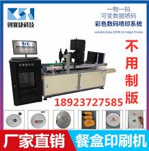 快餐盒盖子印刷机餐盒UV喷码机餐盒盖印刷机图片