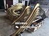 福州抽象不锈钢假山雕塑圆管扭弯假山造型雕塑小品制作技法的灵活性