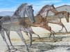 厦门策马奔腾景观不锈钢马雕塑仿真动物不锈钢雕塑广泛的运用之处