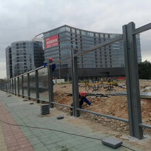 工程pvc围挡钢结构围挡铁皮围挡厂家图片