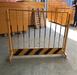 铁马围栏价格11.5米黄黑颜色商场隔离栏可移动市政铁马护栏