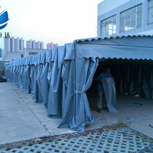 雨蓬伸缩推拉雨棚,黄石中恒达活动雨篷厂家直销图片