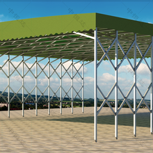 三门峡环保活动雨篷生产厂家,伸缩推拉雨棚图片