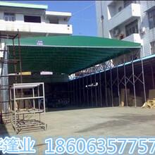河南郑州推拉雨棚厂家移动推拉雨蓬高品质工程图片