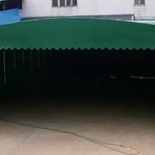 临沂伸缩遮阳雨棚大型伸缩雨棚雨棚定做推拉棚多少钱图片