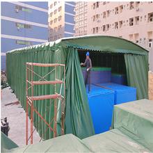 安徽亳州推拉式遮阳篷户外遮阳棚厂推拉篷批发伸缩雨棚安装图片