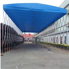 河南开封市折叠雨蓬伸缩式防雨棚遮阳雨篷推拉篷生产图片
