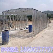 河南开封电动推拉雨棚厂家推拉雨蓬价格高品质工程图片