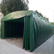 河南许昌市电动遮阳雨篷推拉式车棚推拉篷厂推拉篷厂家直销图片