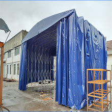 江西都昌仓储篷房移动仓储篷电动遮阳棚推拉棚供应