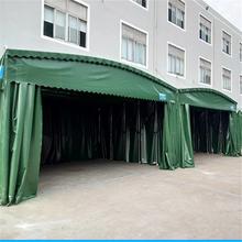 江西星子仓库推拉棚推拉遮阳篷电动折叠雨棚大型帐篷定做图片