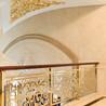 新曼私人定制铝艺楼梯护栏旋转铝雕花扶手
