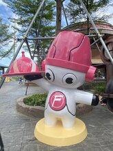 佛山玻璃钢雕塑厂家户外卡通雕塑造型机器人餐厅景观卡通装饰