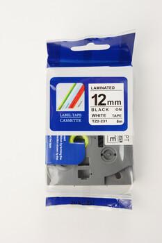 普貼國產tz2-631色帶適用于兄弟d210標簽打印機