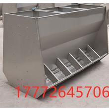 厂家直销不锈钢食槽单面双面保育育肥一体猪饲料食槽干湿料食槽图片