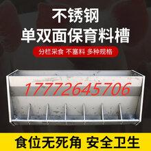 養殖場自動喂料設備豬場專用304不銹鋼雙面料槽育肥食槽圖片
