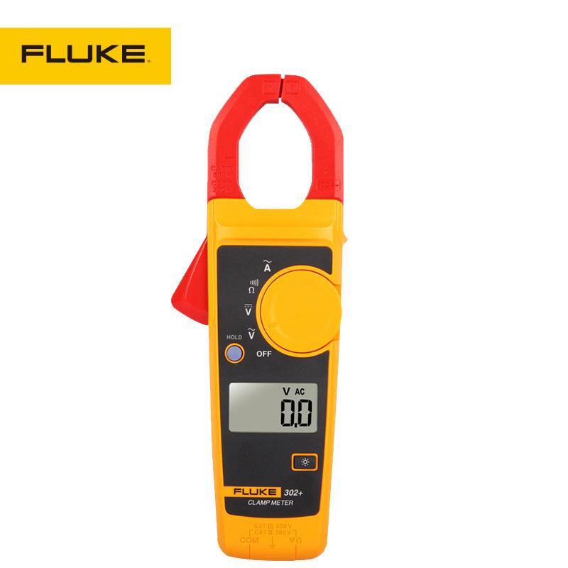 福禄克FLUKEF302+高精度数字钳形表交直流电流表万用表