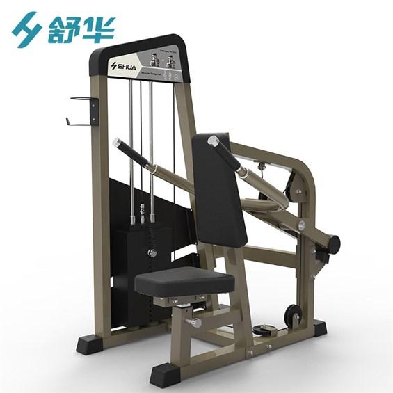 佛山三头肌训练器专卖舒华力量训练器健身房增肌器材