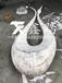 常德戶外水景抽象鏡面不銹鋼天鵝雕塑工地實拍效果大圖