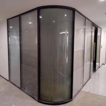 宝安办公室装修铝合金百叶玻璃高隔断隔间墙厂家报价