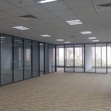 深圳厂家供应双层玻璃隔断-单层玻璃隔断/办公隔墙装修/深圳玻璃隔断图片
