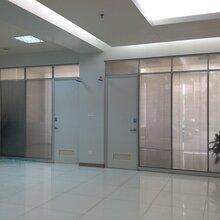 供应深圳龙华办公室铝合金玻璃高隔断墙/深圳玻璃隔断厂家图片