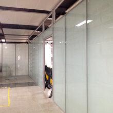 深圳宝安办公磨砂玻璃隔墙/深圳办公室玻璃隔墙图片