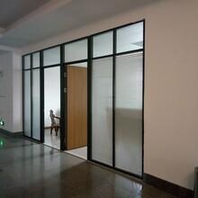 東莞雙層玻璃百葉隔斷墻玻璃隔間辦公室制造找工廠無憂售后圖片
