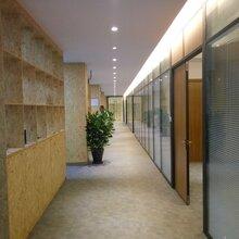 深圳宝安燕罗办公室百叶玻璃隔墙-深圳办公百叶玻璃隔墙图片
