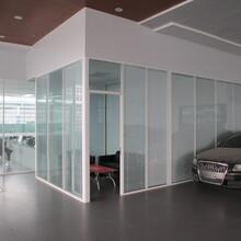 美隔中空玻璃隔斷,環保辦公中空玻璃夾百葉窗隔斷價格實惠圖片