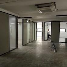 深圳鋁合金隔斷辦公室中空百葉玻璃隔墻經久耐用,辦公百葉玻璃隔墻圖片