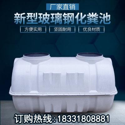 0.5/1/1.5/2/立方玻璃钢家用农村污水改造三格小型净化模压化粪池