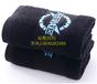 黑色毛巾/加厚吸水性好不掉色黑色面巾現貨供應定制logo