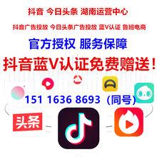 长沙抖音广告投放长沙抖音运营中心抖音蓝V认证官方授权