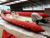 海之潤7.6米熱熔技術玻璃鋼充氣艇橡皮艇RIB船