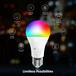 Wi-Fi智能RGBCWA19/D60球泡燈LED燈泡(4件裝)調光調色定時開關